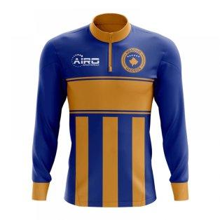 Kosovo Concept Football Half Zip Midlayer Top (Blue-Orange)