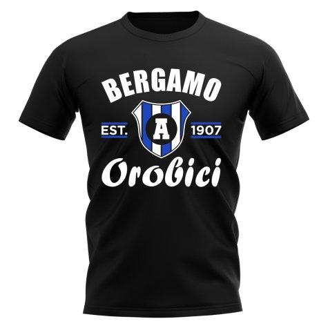 Atalanta Established Football T-Shirt (Black)