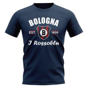 Bologna Established Football T-Shirt (Navy)