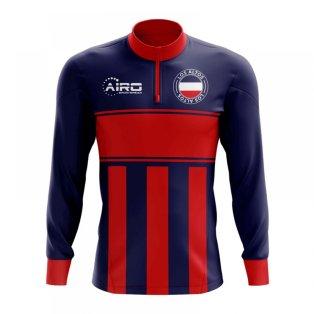 Los Altos Concept Football Half Zip Midlayer Top (Blue-Red)