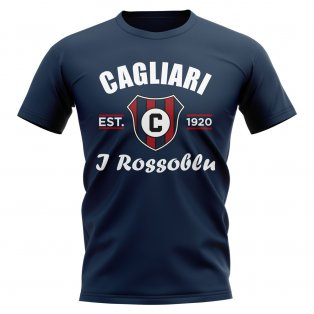 Cagliari Established Football T-Shirt (Navy)