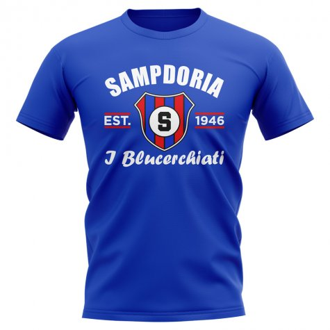 Sampdoria Established Football T-Shirt (Blue)