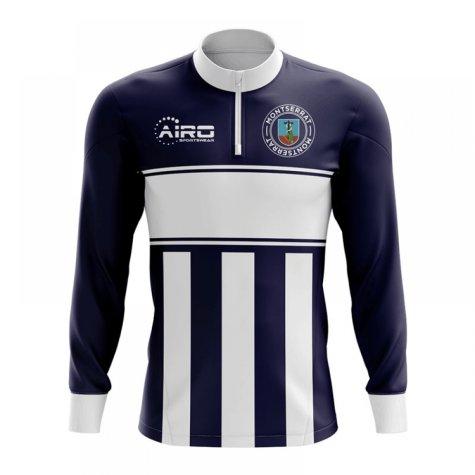Montserrat Concept Football Half Zip Midlayer Top (Navy-White)