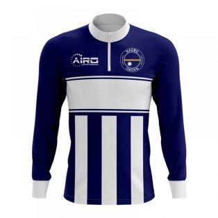 Nauru Concept Football Half Zip Midlayer Top (Navy-White)