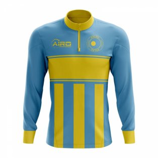 Palau Concept Football Half Zip Midlayer Top (Sky Blue-Yellow)