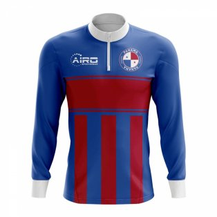 Panama Concept Football Half Zip Midlayer Top (Blue-Red)