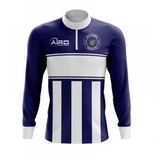 Pitcairn Islands Concept Football Half Zip Midlayer Top (Navy-White)