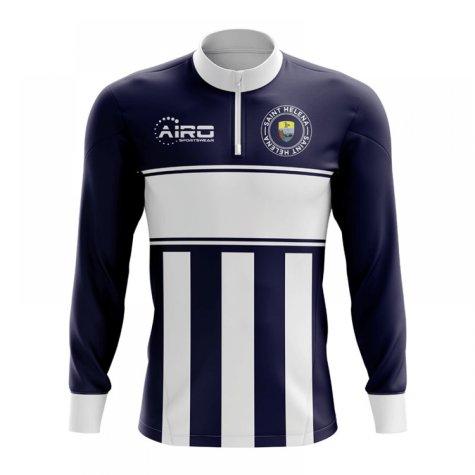 Saint Helena Concept Football Half Zip Midlayer Top (Navy-White)