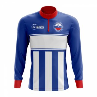Slovenia Concept Football Half Zip Midlayer Top (Blue-White)