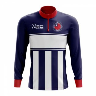 Taiwan Concept Football Half Zip Midlayer Top (Blue-White)