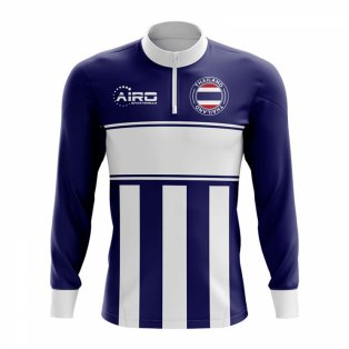 Thailand Concept Football Half Zip Midlayer Top (Navy-White)