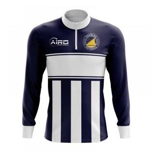 Tokelau Concept Football Half Zip Midlayer Top (Navy-White)