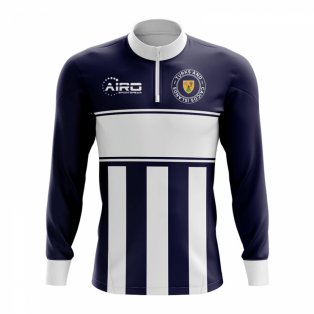 Turks and Caicos Islands Concept Football Half Zip Midlayer Top (Navy-White)