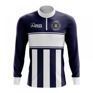 Virgin Islands Concept Football Half Zip Midlayer Top (Navy-White)