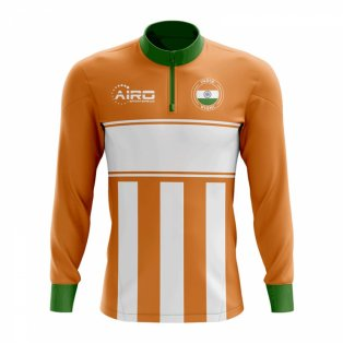 India Concept Football Half Zip Midlayer Top (Orange-White)