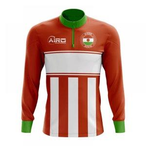 Niger Concept Football Half Zip Midlayer Top (Orange-White)
