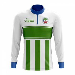 Equatorial Guinea Concept Football Half Zip Midlayer Top (White-Green)