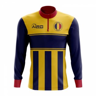 Chad Concept Football Half Zip Midlayer Top (Yellow-blue)