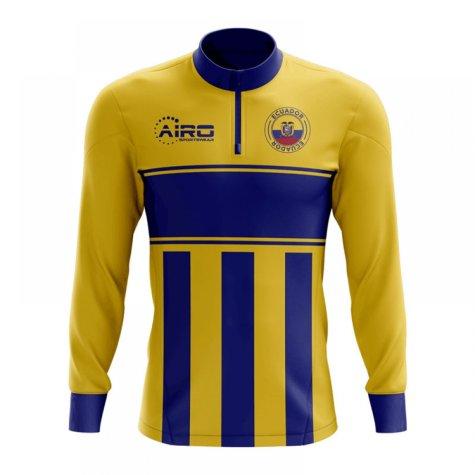 Ecuador Concept Football Half Zip Midlayer Top (Yellow-Blue)