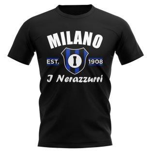 Inter Milan Established Football T-Shirt (Black)
