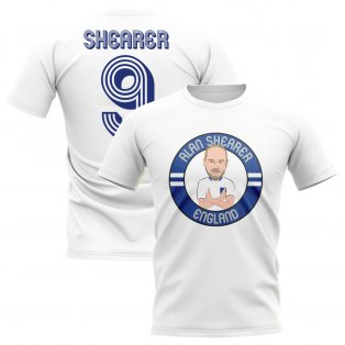 Alan Shearer England Illustration T-Shirt (White)