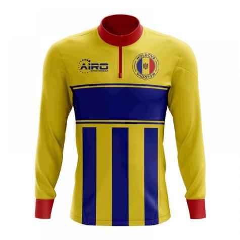 Moldova Concept Football Half Zip Midlayer Top (Yellow-Blue)