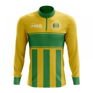 Saint Vincent and Grenadines Concept Football Half Zip Midlayer Top (Yellow-Green)