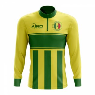 Senegal Concept Football Half Zip Midlayer Top (Yellow-Green)