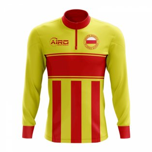 South Ossetia Concept Football Half Zip Midlayer Top (Yellow-Red)