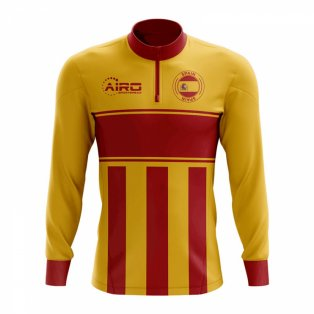Spain Concept Football Half Zip Midlayer Top (Yellow-Red) 617a6559b
