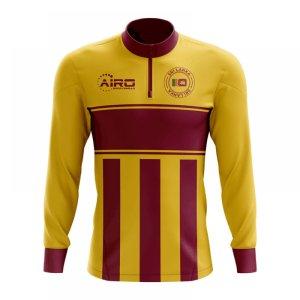 Sri Lanka Concept Football Half Zip Midlayer Top (Yellow-Red)