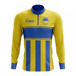 Ukraine Concept Football Half Zip Midlayer Top (Yellow-Blue)