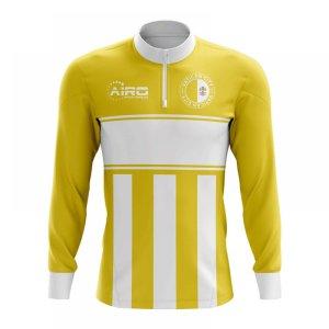 Vatican City Concept Football Half Zip Midlayer Top (Yellow-White)