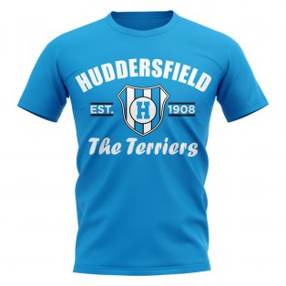 Huddersfield Established Football T-Shirt (Sky Blue)
