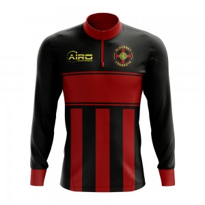 Alderney Concept Football Half Zip Midlayer Top (Black-Red)