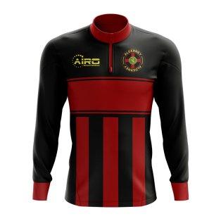 Alderney Concept Football Half Zip Midlayer Top (Black-Red)