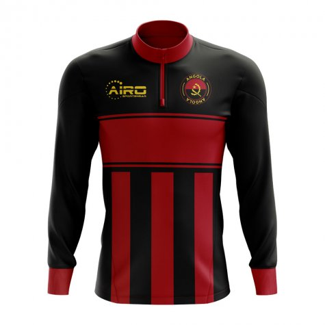 Angola Concept Football Half Zip Midlayer Top (Black-Red)