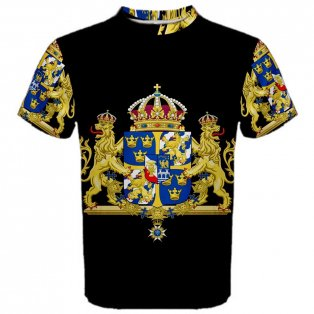 Sweden Coat of Arms Sublimated Sports Jersey