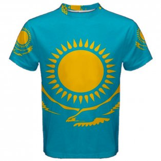 Kazakhstan Flag Sublimated Sports Jersey
