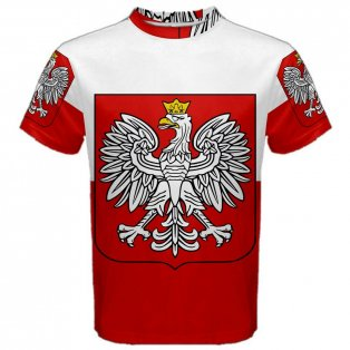 Poland Flag Sublimated Sports Jersey