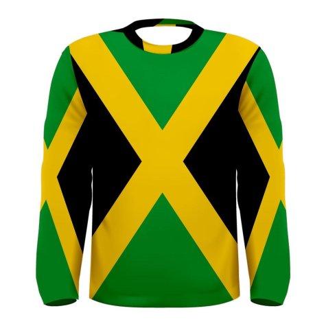 Jamaica Flag Long Sleeve Sublimated Sports Jersey