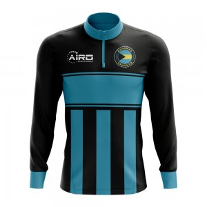 Bahamas Concept Football Half Zip Midlayer Top (Black-Blue)