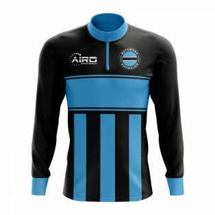Botswana Concept Football Half Zip Midlayer Top (Black-Blue)