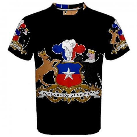 Chile Coat of Arms Sublimated Sports Jersey