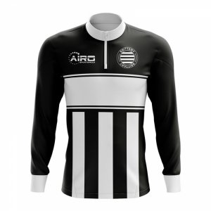 Brittany Concept Football Half Zip Midlayer Top (Black-White)