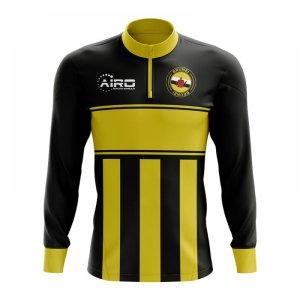 Brunei Concept Football Half Zip Midlayer Top (Black-Yellow)
