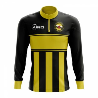 Brunei Concept Football Half Zip Midlayer Top (Black-Yellow)