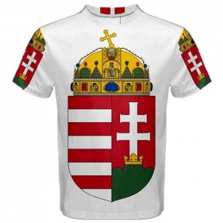 Hungary Coat of Arms Sublimated Sports Jersey - Kids
