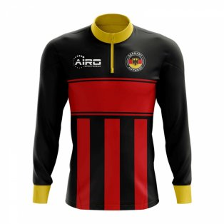Germany Concept Football Half Zip Midlayer Top (Black-Red)