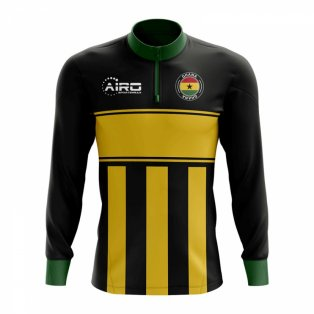 Ghana Concept Football Half Zip Midlayer Top (Black-Yellow) 49fa938ef